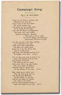 [No place: no publisher, 1900. Unbound. Fine. Broadside song or poem. Approximately 5