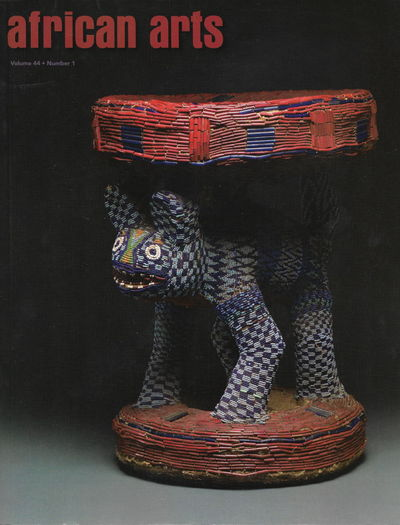 African Arts Magazine, Volume 44, Number 1, Spring 2011. Very good with only minor cover wear.