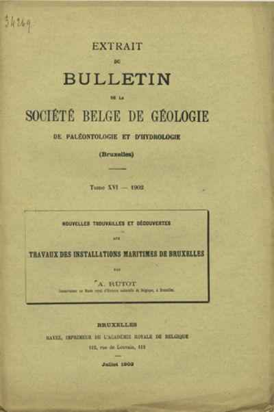 Bruxelles: Hayez, Imprimeur, 1902. Offprint. Paper wrappers. A very good copy.. 4 pp. 8vo. Extrait d...