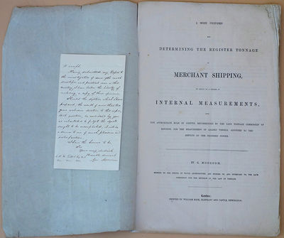 1850. Moorsom System. Archive of 38 documents, including letters, manuscript charts, printed documen...