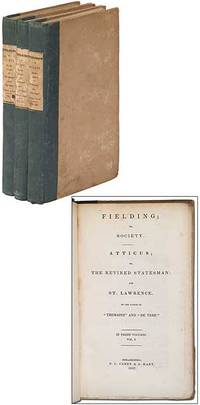 Philadelphia: E.L. Carey & A. Hart, 1837. Hardcover. Very Good. First American edition. Three volume...
