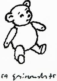 [Lithographie originale signée] : Ourson / Nounours / Teddy bear