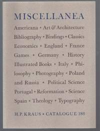 Catalogue 180: Miscellanea; Americana, Art & Architecture etc.