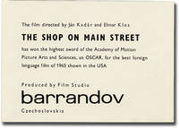 image of The Shop on Main Street [Obchod na korze] (Original herald for the 1965 film)
