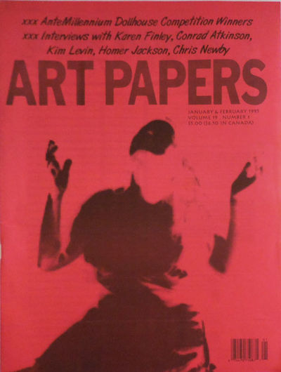 Atlanta: Art Papers, 1995. First edition. Paperback. Very Good. Overly tall (over 13