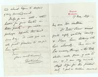 Autograph Letter Signed to Mr Walbran,  (George William, 1827-1912, Dean of Winchester 1883-1894, from 1894 Dean of Durham)