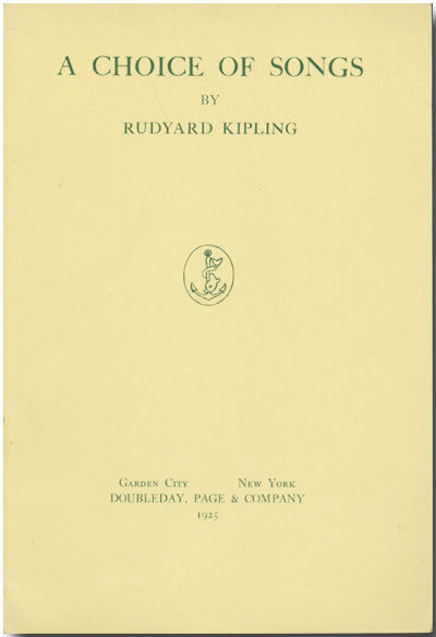 Garden City: Doubleday, 1925. Cream wrappers, printed in green. Very good. First American edition, o...