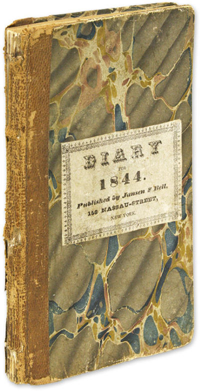 1844. . . Diary of a Prominent Yonkers, New York, Lawyer, Judge and Politician . Scrugham, William W...