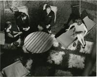 La Notte (Original photograph of Marcello Mastroianni and Jeanne Moreau  on the set in 1961)