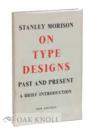 image of ON TYPE DESIGNS, PAST AND PRESENT, A BRIEF INTRODUCTION