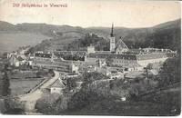 image of Stift Heiligenkreuz (Holy Cross Abbey Courtyard) on 1910 Monochrome Postcard