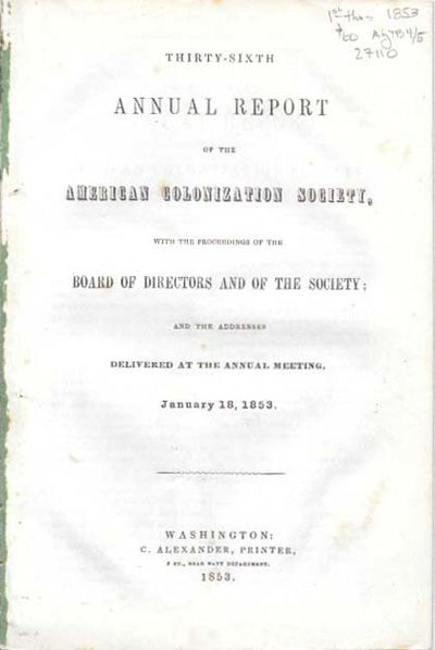 Washington: C. Alexander, Printer, 1853. 1st thus (Dumond, p. 13). Disbound, lacking wrappers. Overa...