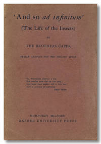 'AND SO AD INFINITUM' (THE LIFE OF THE INSECTS). FREELY ADAPTED FOR THE ENGLISH STAGE...