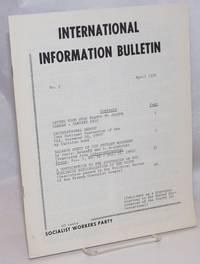 image of International information bulletin, no. 2, April 1970