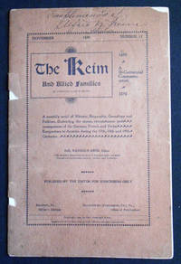 The Keim and Allied Families in America and Europe -- Nov. 1899, no. 12