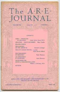 The A.R.E. Journal, Volume VIII, Number 3