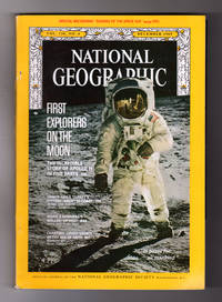 """National Geographic Magazine - December, 1969. Includes Record, """"Sounds of the Space Age"""". First Explorers on the Moon - the Story of Apollo 11; Yankee Sails Turkey's History; Hornbill's Walled-Up Nest; Chartres"""
