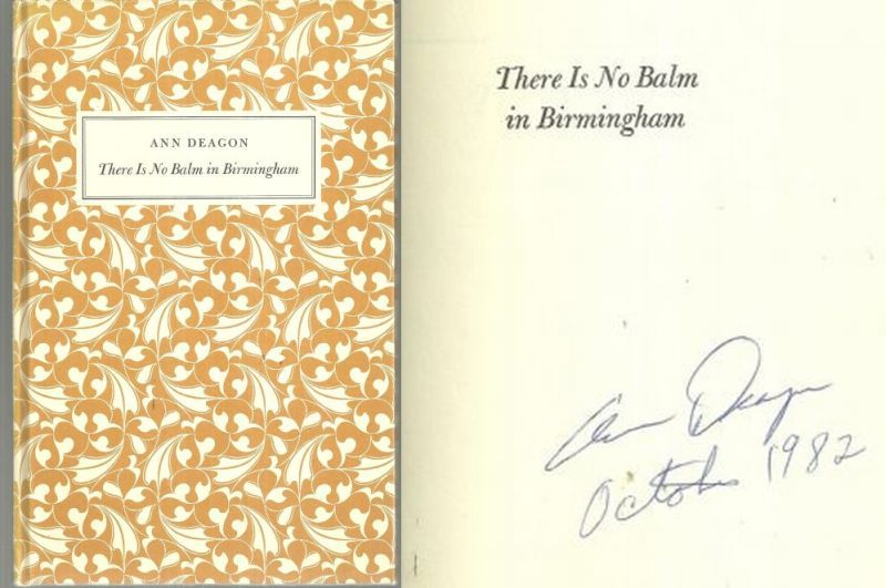 THERE IS NO BALM IN BIRMINGHAM, Deagon, Ann