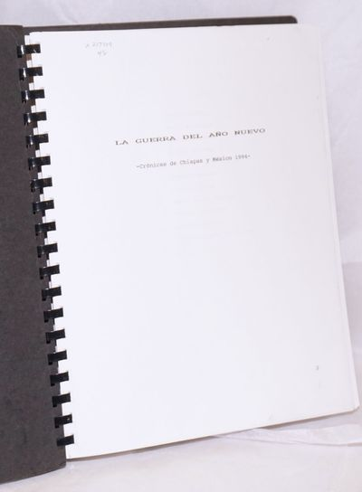 no place: no publisher, 1994. Spiral_bound. 245p., keyboard-set texts throughout printed rectos only...
