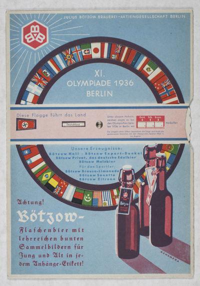 Berlin: Julius Bötzow Brauerei-Aktiengesellschat, 1936. Softcover. vg. Octavo. Original illustrated...