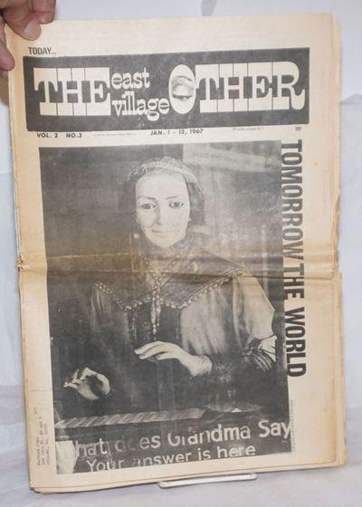 New York: East Village Other, Inc, 1967. Newspaper. 20p., folded tabloid underground newspaper, arti...