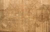 image of Plan Routier de la Ville de Fauxbourgs de Paris divisé en douze Mairies