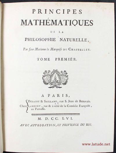 Principes mathématiques de la...