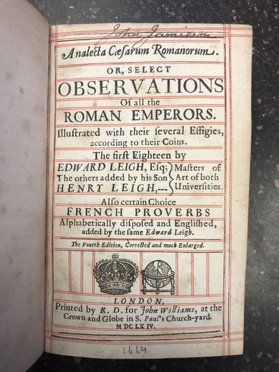 London: printed by R.D. for John Williams, 1664. Fourth Edition. Hardcover. Octavo, , 430, pages; VG...