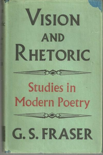 Image for VISION AND RHETORIC Studies in Modern Poetry