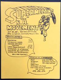 image of Supermeeting on the N.H. Movement. Oct. 30, 1971. New England College [handbill]