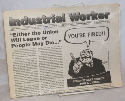 Ypsilanti, MI: Industrial Workers of the World, 1995. Newspaper. One issue, tabloid format newspaper...
