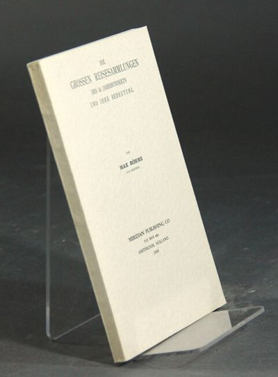 Amsterdam: Meridian, 1968. Reprint edition (first published Strassburg, 1904), 8vo, pp. , 164, ; ful...