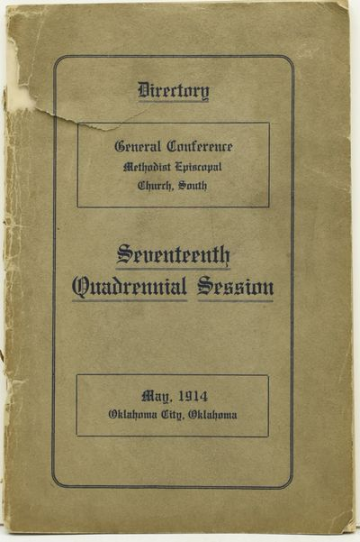 Oklahoma City, Okla: Woodcock Prtg. Co, 1914. First Edition. Stapled Pamphlet. Good binding. 8vo.; i...
