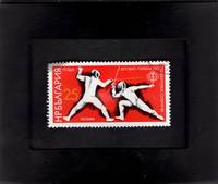 Tchotchke Stamp Art - Collectible International Postage Stamp - World Fencing Championship