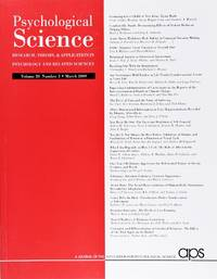 image of Psychological Science (Volume 20, Number 3, March 2009)