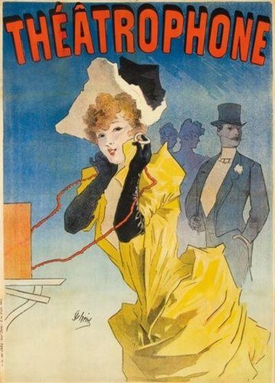 Affiche originale - Théatrophone. 1890