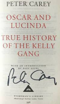 OSCAR AND LUCINDA & THE TRUE HISTORY OF THE KELLY GANG (SIGNED)