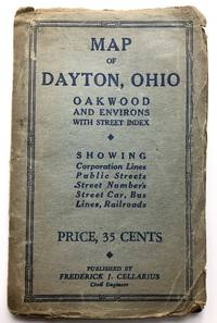 Map of Dayton, Ohio, Oakwood and environs, with street index by Cellarius, Frederick J - 1942
