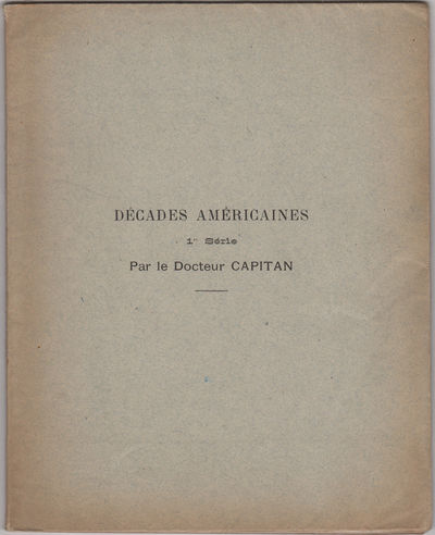 : (Imp. Wellhof et Roche), 1907. First edition. French fold paper wrappers, title inked on spine. Wr...
