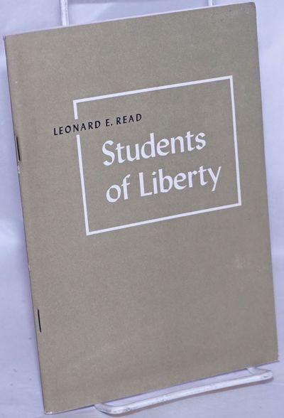 Irvington-on-Hudson, NY: The Foundation for Economic Education, 1950. 59p., stapled wraps, 5.25x7.5 ...
