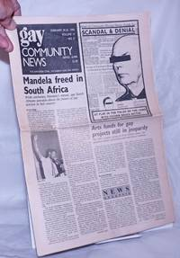 image of GCN: Gay Community News; the weekly for lesbians and gay males; vol. 17, #30 [states 31 incorrectly] February 19 - 24, 1990; Mandela Freed in South Africa