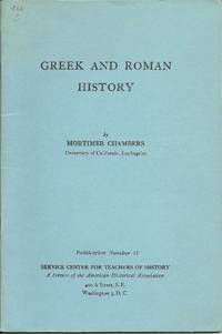 Greek and Roman History: Publication Number 11