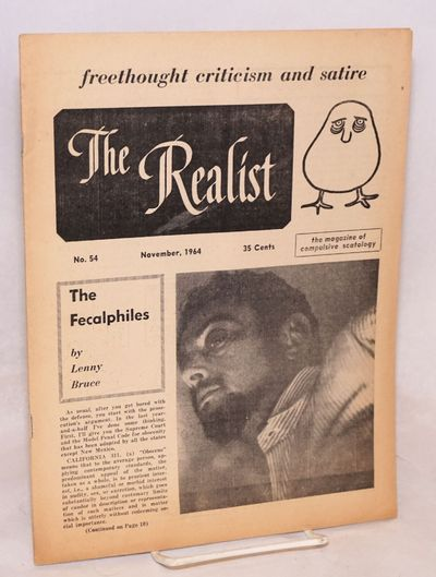 New York: The Realist Association, 1964. 24p, wraps, paper sightly browned, 8.5x11 inches, very mino...