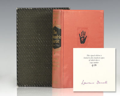 London: Faber & Faber, 1962. Signed limited first edition of Durrell's masterpiece, one of 500 numbe...