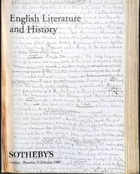 Sale L00200, 24 February 2000: English Literature and History.