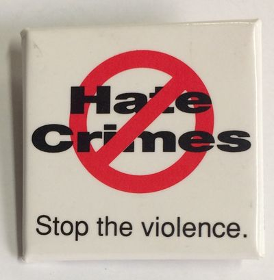 New York: New Yrk City Gay and Lesbian Anti-Violence Project, n.d.. 1.5 inch square pin, very good.