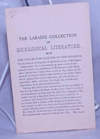 image of The Labadie Collection of Sociological Literature [flier soliciting donations for the purchase of the collection]