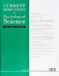 image of Current Directions In Psychological Science (Volume 18, Number 6, December 2009)