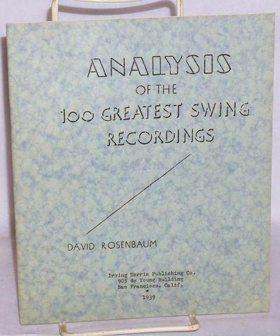 San Francisco: Irving Morris Publishing, 1939. 32 p., stapled wraps, 8x6.75 inches, mimeographed, ev...