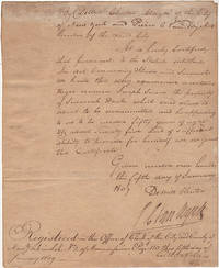 Deed of Manumission for a New York City slave, signed by Mayor Dewitt Clinton